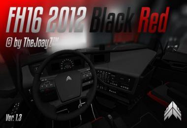 Volvo FH16 2012 Black Red Mod v1.3 1.28
