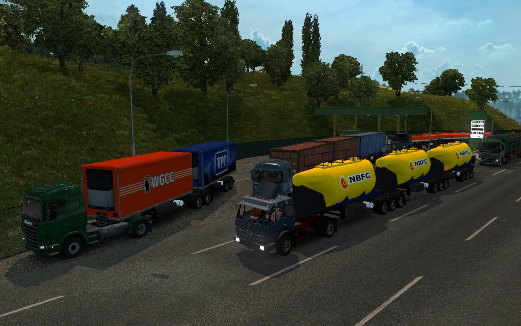 Cargo and Traffic double triple trailers for ETS2 v1 28