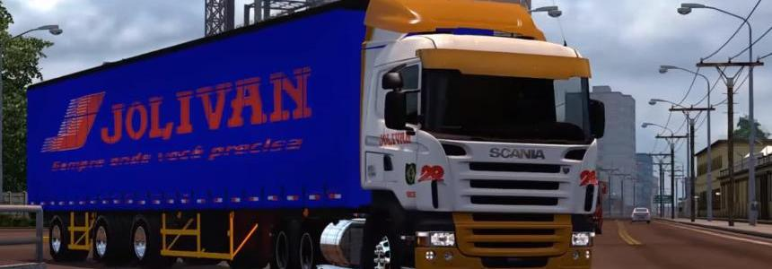 Pack Trailers Reboque + Skins Scania RJL V1.5 1.28