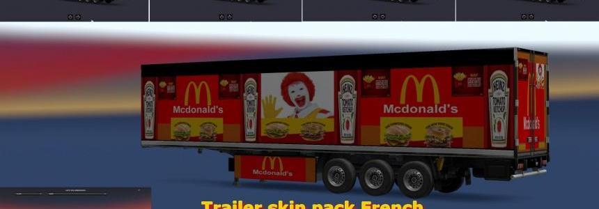 Ets2 Trailer Skin Pack French v1.0