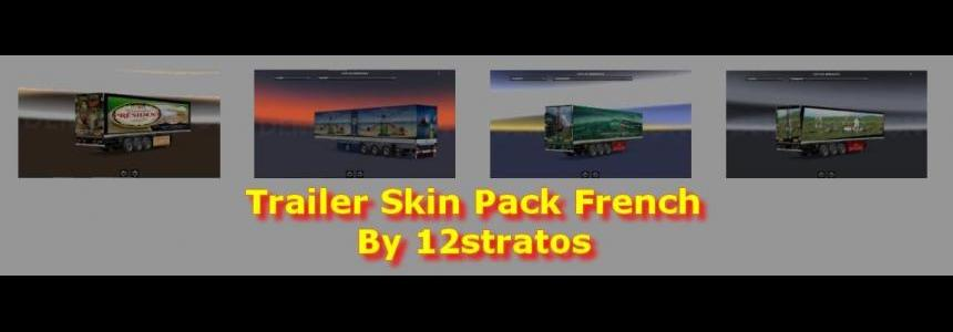 Ets2 Trailer Skin Pack French v1.0