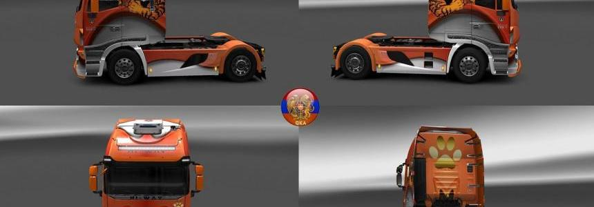 Iveco Hiway Tiger Style Combo skin packs 1.28.1.3s
