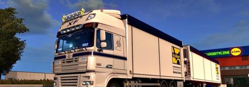 Kraker Tandem addon for 50k DAF & RJL Scania v1.1 (1.28.x)