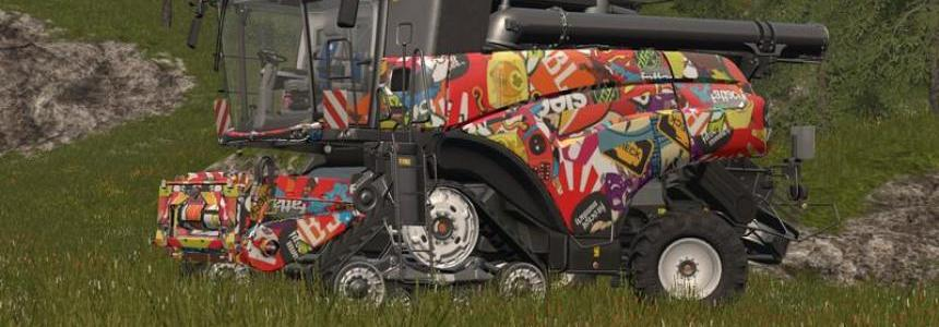 New Holland CR 1090 StickerBomb v1.0