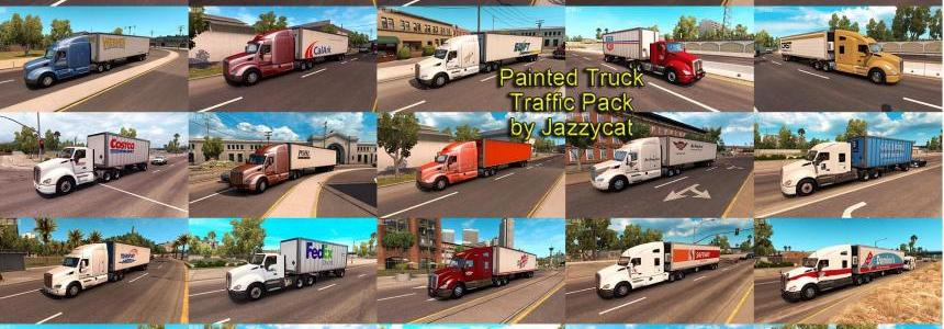 Painted Truck and Trailers Traffic Pack by Jazzycat v1.2