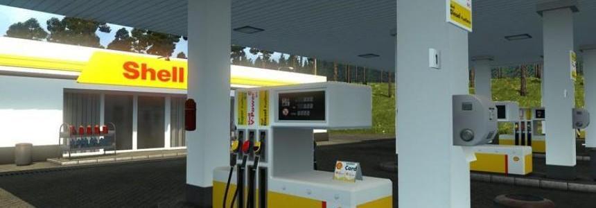 Realistic European petrol station 04.10.17