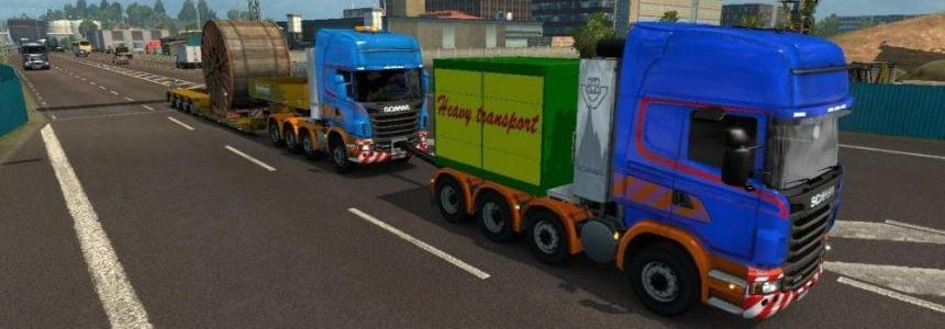 Scania R Heavy Haul Convoy Mod v1.0