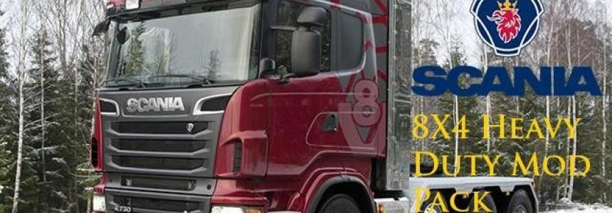 Scania V8 Topline 8x4 Heavy Duty Mod Pack 1.28.x