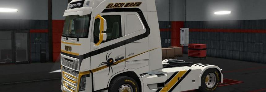 Skin Black Widow for Volvo FH 1.28.x