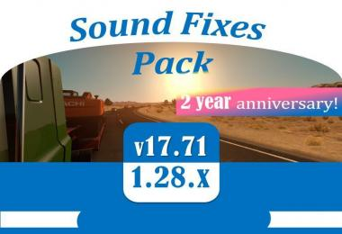 [ATS] Sound Fixes Pack v17.71 – Anniversary edition