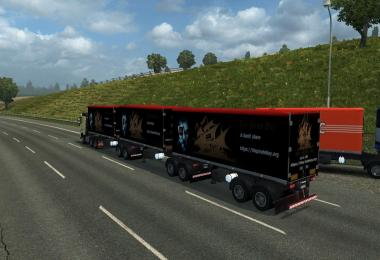 Cargo and Traffic double triple trailers for ETS2 v1.28