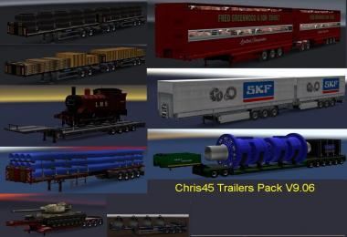 Chris45 Trailers Pack v9.07 for ETS2 V1.28