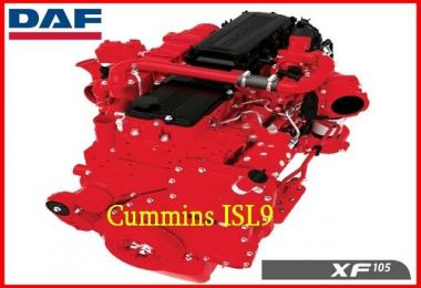 Cummins ISL9 380 for DAF XF 105 chiptunned 1.28.x