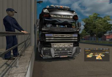 Hybrid DAF XF 105 and Scania V8 MP 1.28.x