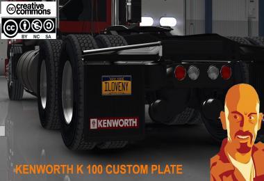 KENWORTH K100 ATS CUSTOM PLATE 1.29.x