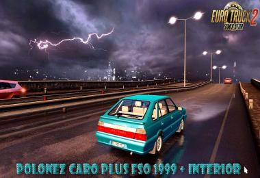Polonez Caro Plus FSO 1999 + Interior v2.1