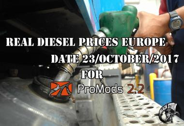REAL DIESEL PRICES FOR EUROPE FOR PROMODS v2.20 (23/10/2017)