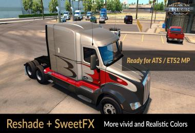 Reshade and SweetFX: More vivid and Realistic Colors v1.9.2 for ATS