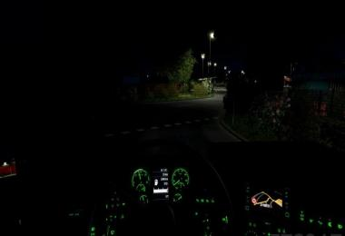 Scania RJL CMI Green dashboard light v1.1 (1.28.x)