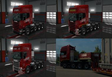 SCANIA (RJL) CRAM Skin Packs v1.1