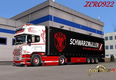 Scania RS 6 series Red & White Skin Combo Pack + Accessory Parts