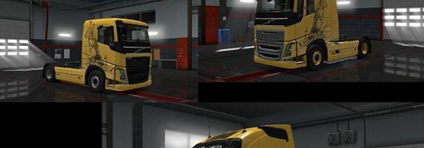 Volvo Fh16 2012 Gold Tribal All versions