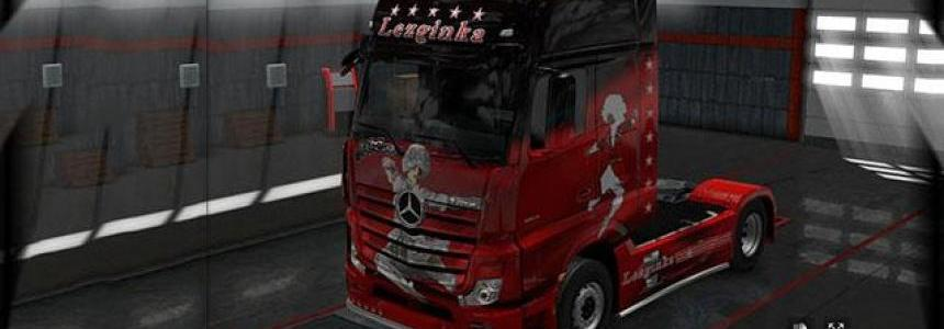 Airbrushing Lezginka for Mercedes Acros 2014 1.28.x