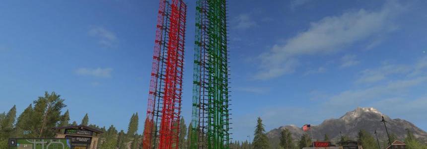 50 Meter Plow Re-skinned Green v1.0