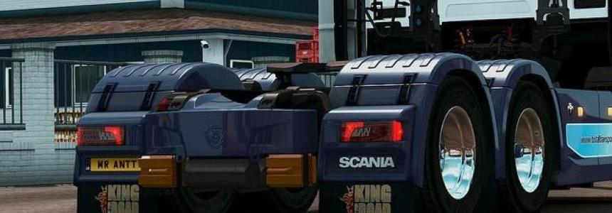 King of the Road Mudflaps for 2016 Scania v1.0