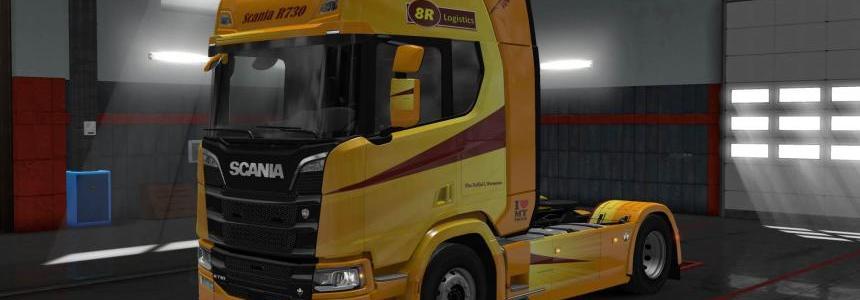 Scania 730 8R logistics skin 1.30