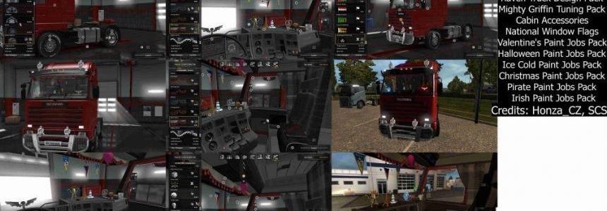 DLC cabin pack for Scania 143m v1.0