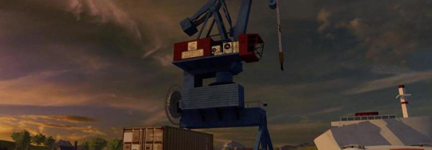 Harbor crane with spline v1.0