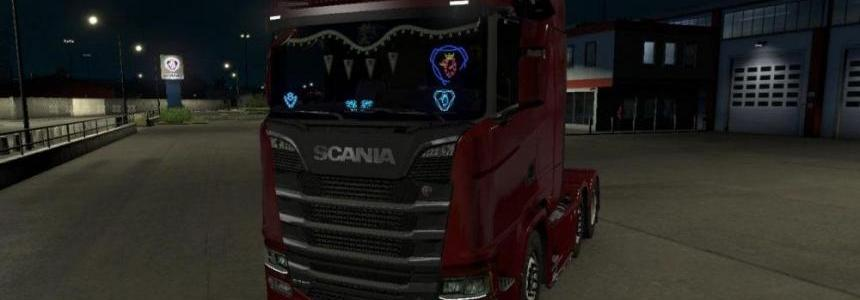 LED plate from scania (old) for scania S & R 2016 1.30