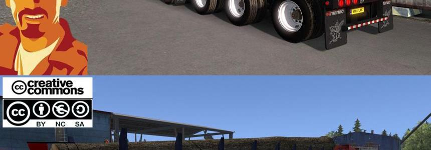 MANAC 4 AXIS LOG TRAILER ETS2 1.28 - 1.30.x