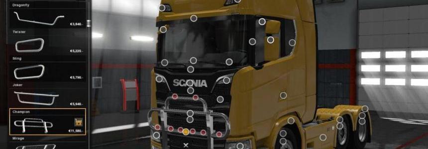 New Logo & Grill for Scania S 2016 v1.0