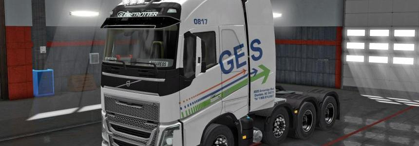 Pack skins real oversized - heavy companies for Volvo FH 16 1.28.x