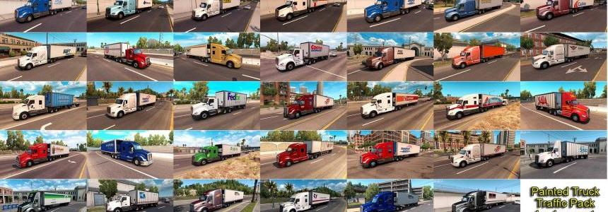 Painted Truck and Trailers Traffic Pack by Jazzycat v1.3