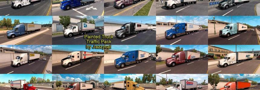 Painted Truck and Trailers Traffic Pack by Jazzycat v1.4