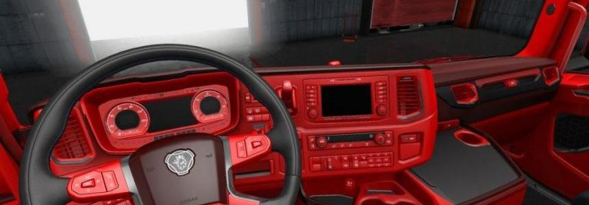 Red interior for Scania 2016 1.30