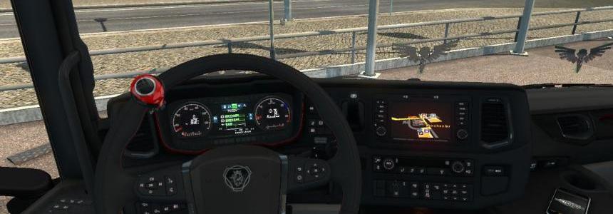 Scania Next Gen Red Dashboard 1.30