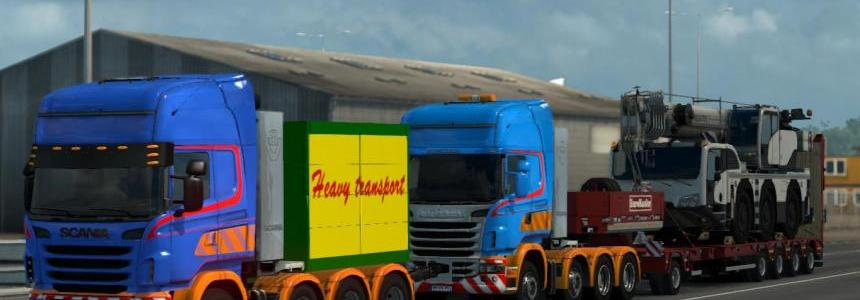 Scania R Heavy Haul Convoy Mod 1.28 & 1.30