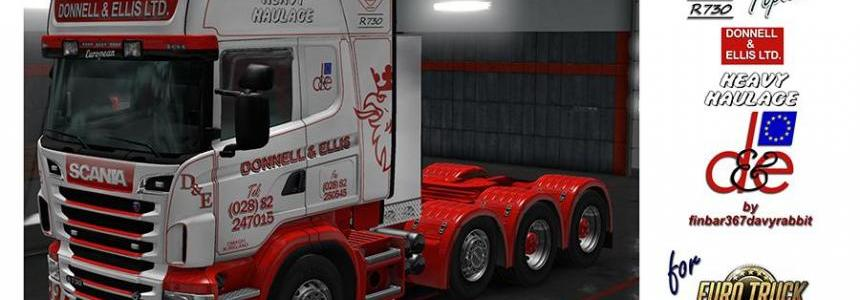 Scania R730 V8 Topline – Donnell & Ellis Texture (RJL) v1