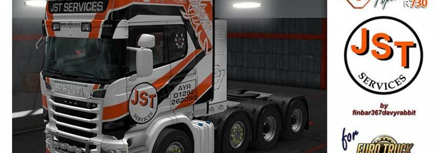 Scania R730 V8 Topline – JST Services Texture (RJL) v1.0