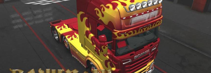Scania R&S Topline Flame skin 1.28 x