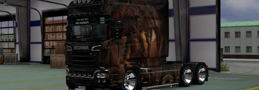 Scania T and Scania RS Dragon Skin