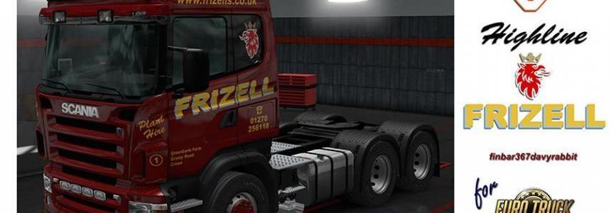 Scania V8 Highline – Frizell Texture (RJL) v1.0