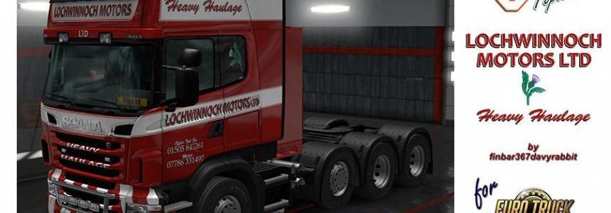 Scania V8 Topline – Lochwinnoch Motors Texture (RJL) v1