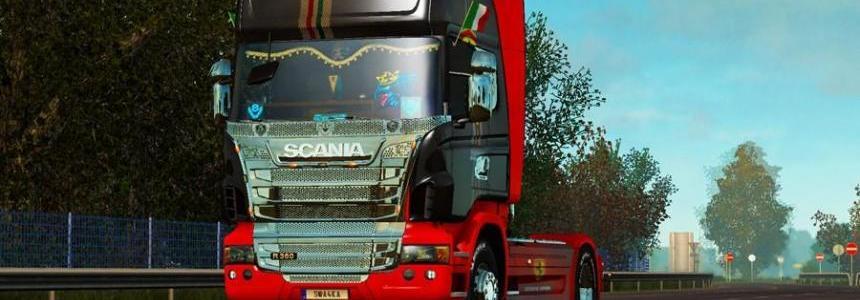 Skin Ferrari for Scania R v1.0