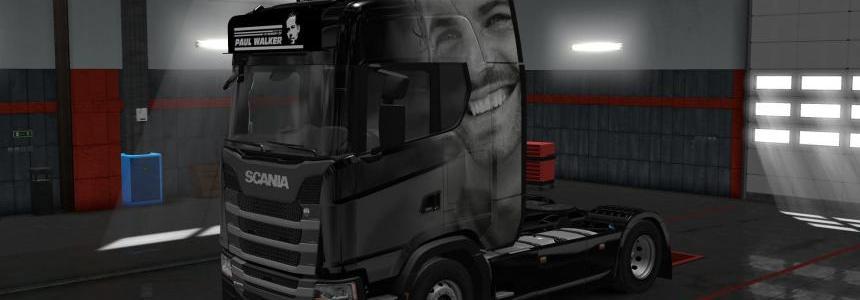 Skin Paul Walker for Scania S 2016 1.30
