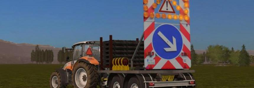 Traffic safety trailer (VSA) with a lighting v1.0